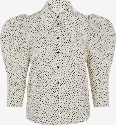 Bluză 'Nour' OBJECT pe alb kitt / negru, Vizualizare produs