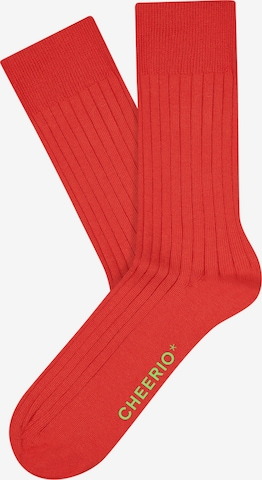 CHEERIO* Socks 'TOUGH GUY' in Red