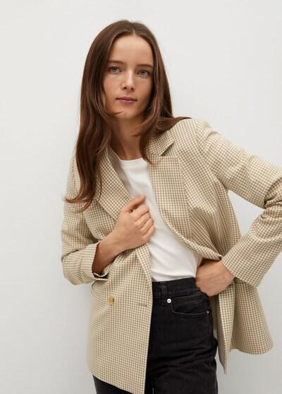 MANGO Blazer 'Charlott' in beige / weiß, Modelansicht