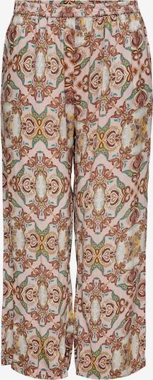 ONLY Carmakoma Broek in de kleur Donkerbruin / Geel / Jade groen / Rosa / Wit, Productweergave