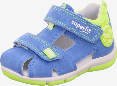 SUPERFIT Отворени обувки в небесносиньо / неоново зелено, Преглед на продукта