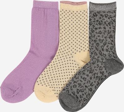 KIDS ONLY Socken 'New Moon' in gelb / graumeliert / mauve / mischfarben / schwarz, Produktansicht