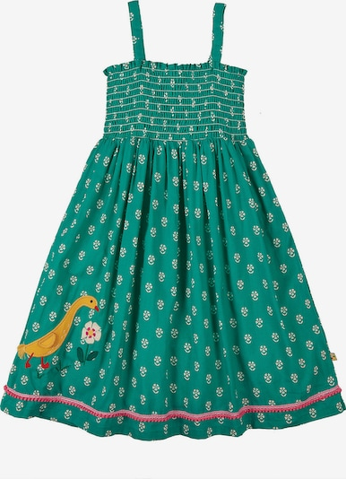 Frugi Kleid 'Cora' in gelb / grün / weiß, Produktansicht