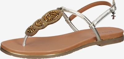 MEXX Sandale in gold / silber, Produktansicht