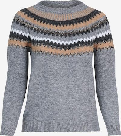 Paprika Sweater in Grey / Orange / Black / White, Item view