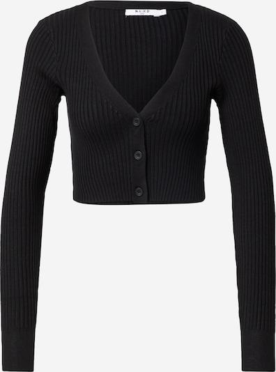 NA-KD Strickjacke in schwarz, Produktansicht