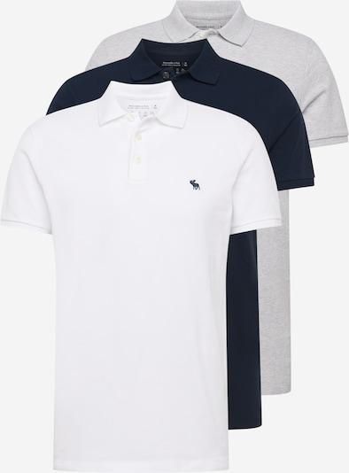 Abercrombie & Fitch T-Shirt 'WEBEX' in navy / hellgrau / weiß, Produktansicht