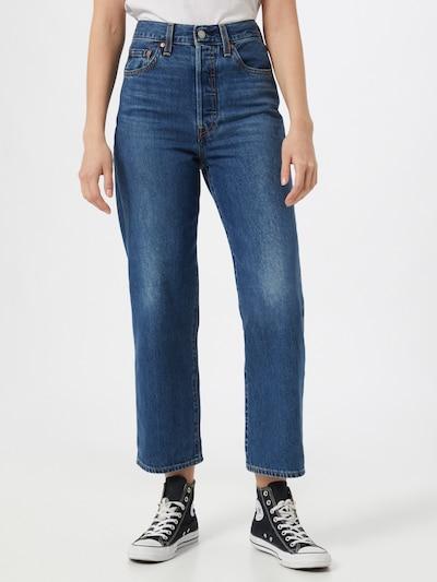 LEVI'S Jean 'RIBCAGE' en bleu denim, Vue avec modèle