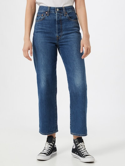 LEVI'S Jeans 'RIBCAGE' in de kleur Blauw denim, Modelweergave