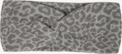Zwillingsherz Stirnband in grau / dunkelgrau, Produktansicht