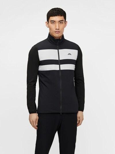 J.Lindeberg Sportjas 'Packlight' in de kleur Zwart / Wit: Vooraanzicht