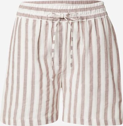 basic apparel Shorts 'Evita' in cappuccino / weiß, Produktansicht
