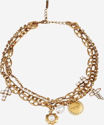Lanțuri Twinset pe auriu / argintiu / alb perlat, Vizualizare produs