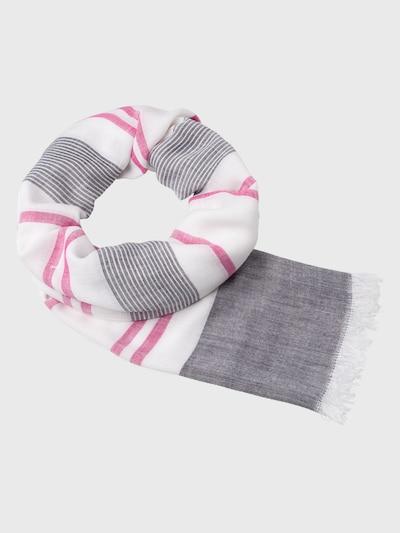 zero Tuch in pink / schwarz / weiß: Frontalansicht