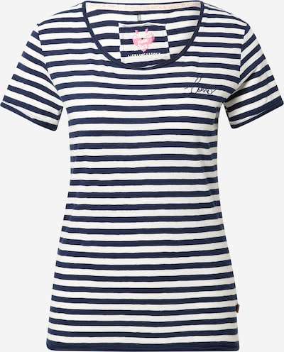 LIEBLINGSSTÜCK Shirt 'Cia' in dunkelblau / weiß, Produktansicht