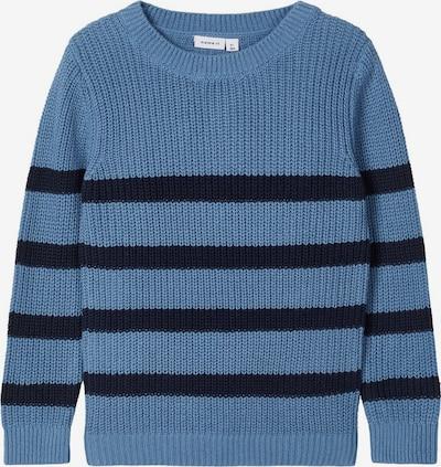 NAME IT Pullover 'Rolf' in rauchblau / schwarz, Produktansicht