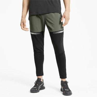 PUMA Sportbroek in de kleur Groen / Zwart: Vooraanzicht
