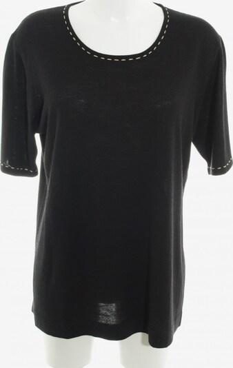 OUI Rundhalspullover in XL in creme / schwarz: Frontalansicht