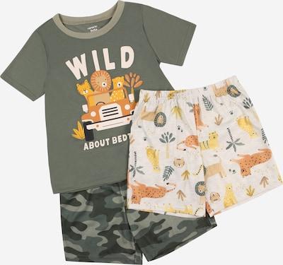 Carter's Pyžamo 'POLY' - tmavožltá / tmavozelená / tmavooranžová / čierna / biela, Produkt