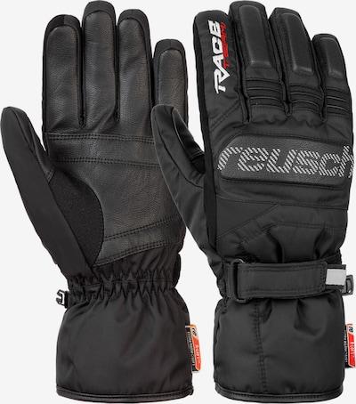 REUSCH Fingerhandschuhe 'Ski Race' in schwarz / weiß, Produktansicht