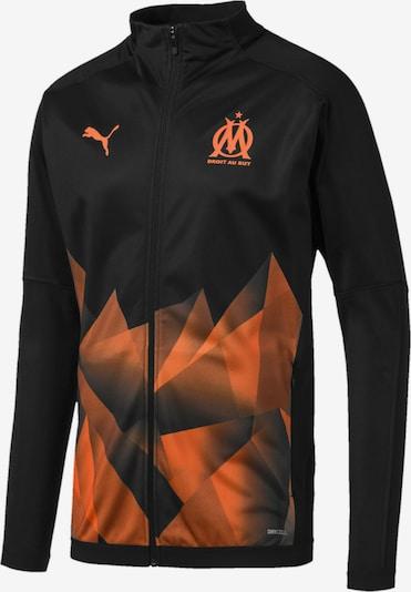 PUMA Jacke in orange / schwarz: Frontalansicht