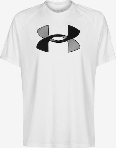 UNDER ARMOUR T-Shirt fonctionnel en gris / blanc, Vue avec produit