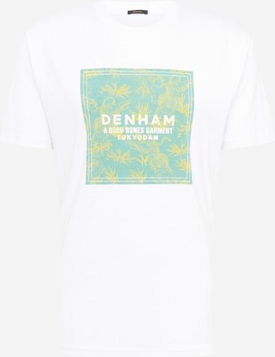 DENHAM Shirt 'COBY' in de kleur Geel / Mintgroen / Offwhite, Productweergave