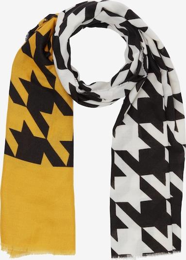 s.Oliver Schal in gelb / schwarz / weiß, Produktansicht