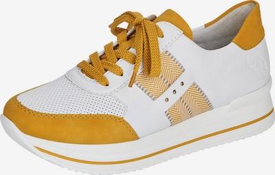 RIEKER Baskets basses en jaune d'or / blanc, Vue avec produit