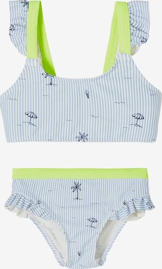 NAME IT Bikini 'Zikkona' in navy / hellblau / neongelb / weiß, Produktansicht
