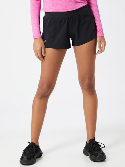 UNDER ARMOUR Shorts 'Go All Day' in schwarz / weiß: Frontalansicht