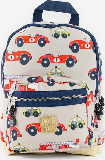 Pick & Pack Rucksack 'Cars' in beige / mischfarben, Produktansicht