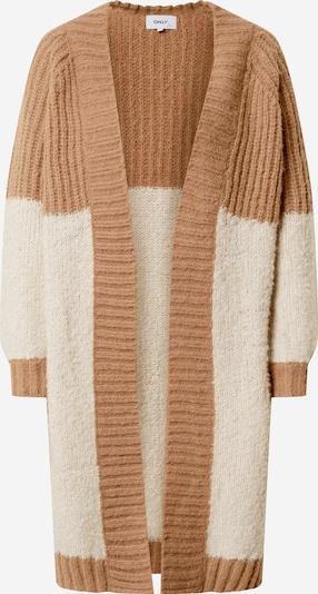 ONLY Pletený kabátek 'Avery' - hnědá / kámen, Produkt