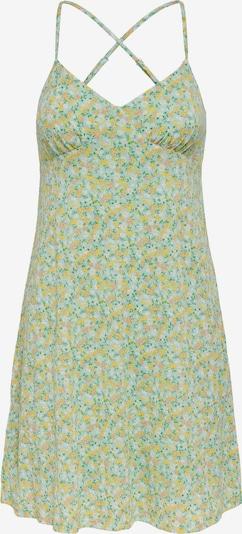 ONLY Robe d'été 'Pella' en citron vert / menthe / vert gazon / orchidée / blanc, Vue avec produit