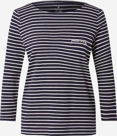 TOM TAILOR Shirt in nachtblau / weiß, Produktansicht