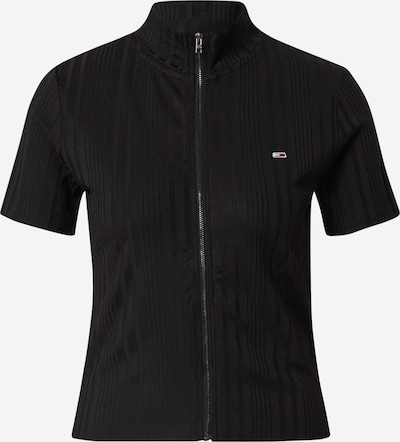 Tommy Jeans T-shirt en noir, Vue avec produit