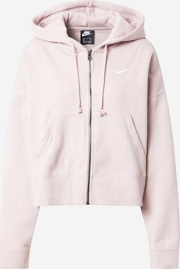Nike Sportswear Bluza rozpinana 'Essentials' w kolorze szampan / białym, Podgląd produktu