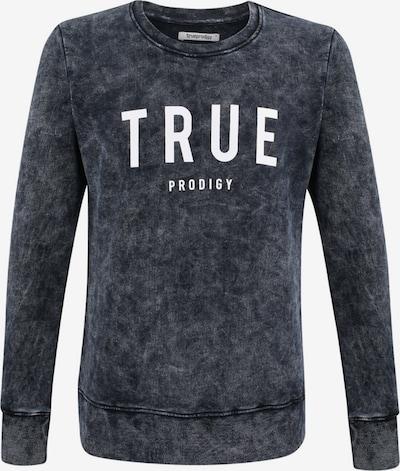 trueprodigy Sweatshirt 'Curt' in grau / schwarz / weiß, Produktansicht