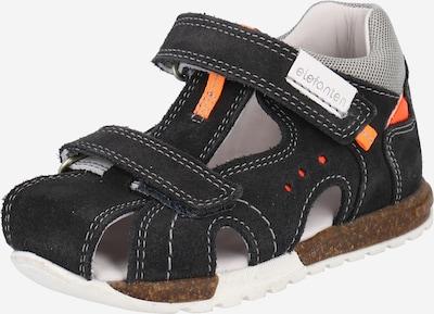 ELEFANTEN Odprti čevlji 'Seven' | antracit / svetlo siva / oranžna barva, Prikaz izdelka