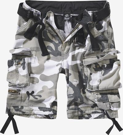 Brandit Cargo Pants 'Savage Vintage' in Smoke grey / Greige / Dark grey / White, Item view