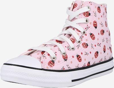 CONVERSE Zapatillas deportivas 'CTAS HI' en rosa / talco / rojo / negro, Vista del producto