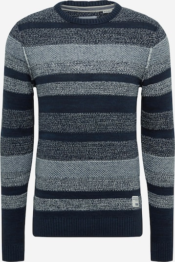 JACK & JONES Pullover in taubenblau / dunkelblau, Produktansicht