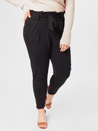 Pantaloni con pieghe Vero Moda Curve di colore nero, Visualizzazione modelli
