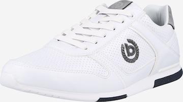 Baskets basses 'Report' bugatti en blanc