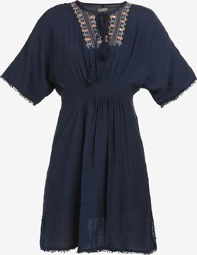DreiMaster Vintage Kleid in marine / opal / curry / altrosa, Produktansicht