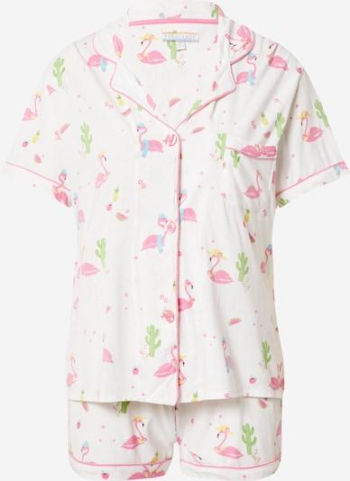 PJ Salvage Korte pyjama ' Print ' in de kleur Wit, Productweergave