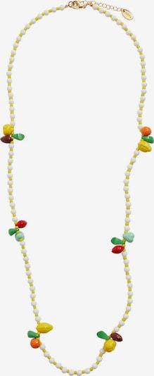 MANGO Chaîne 'Bambi' en jaune / or / vert clair / mélange de couleurs / blanc, Vue avec produit
