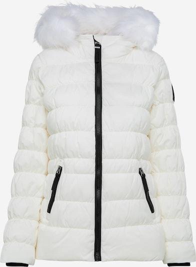 Soccx Winterjacke mit Windbreaker-Bündchen und Fake Fur in weiß, Produktansicht