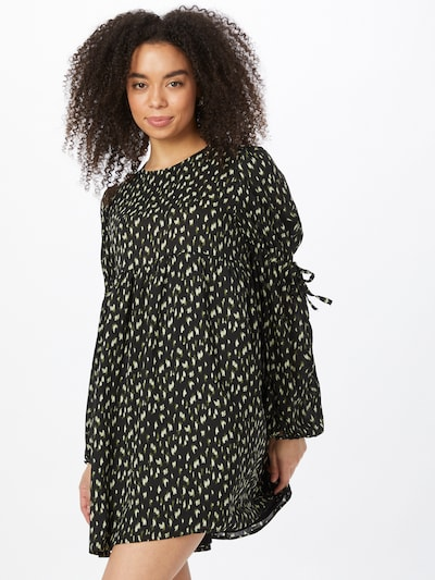 Fashion Union Kleid in oliv / hellgrün / schwarz, Modelansicht