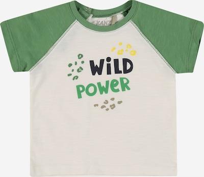 KANZ Тениска в нощно синьо / жълто / Каки / светлозелено / бял меланж, Преглед на продукта